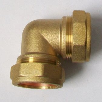 35mm Brass Compression 90 Degree Elbow - 24443500