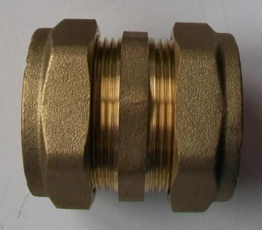 42mm Brass Compression Straight Coupling - 24404200