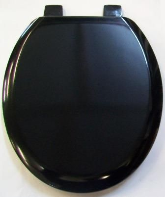 Bemis Black Wood Toilet Seat and Cover - 02000100