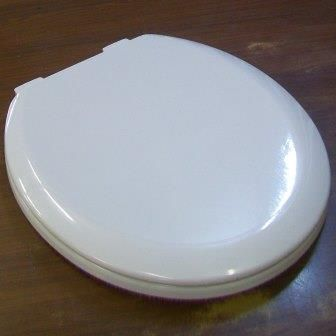 Bemis White Gloss Wooden Toilet Seat - 02002335