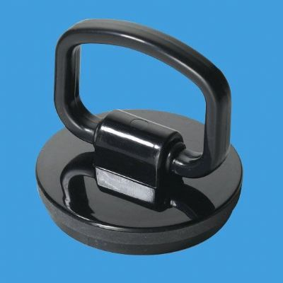 Black Pull D Ring Handle Bath and Kitchen Sink Plug - 74000952