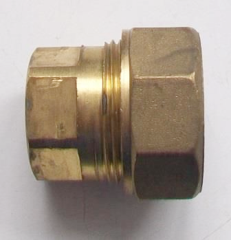 Brass Compression 20mm MDPE Pipe Stop End - 18372000