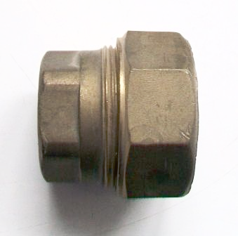 Brass Compression 25mm MDPE Pipe Stop End - 18372500