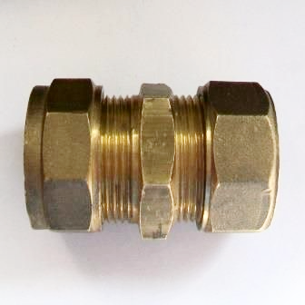 Brass Imperial 21.5mm to 20mm Metric Alkathene Coupler -18402001