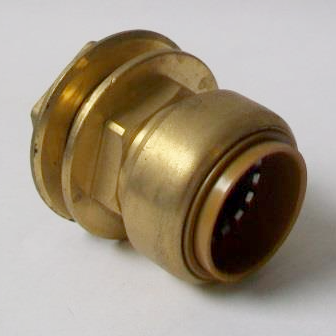 Brass Push Fit 28mm x 1 inch Tank Connector - 27052201
