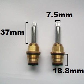 Bristan Heritage 20 Spline Long Stem Washer Tap Valves