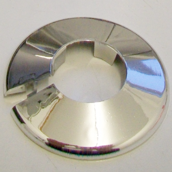 Chrome Plastic 28mm Pipe Wall Flange Collar 30000392