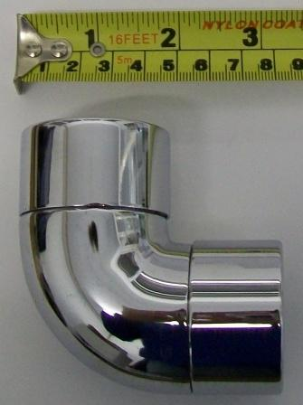 Chrome Plated European Waste Pipe Bend 90 176 32mm Plumbers