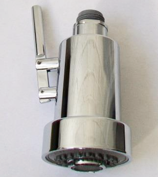 Chrome Pull Out Mixer Tap Spray Handset with Lever - 62003157