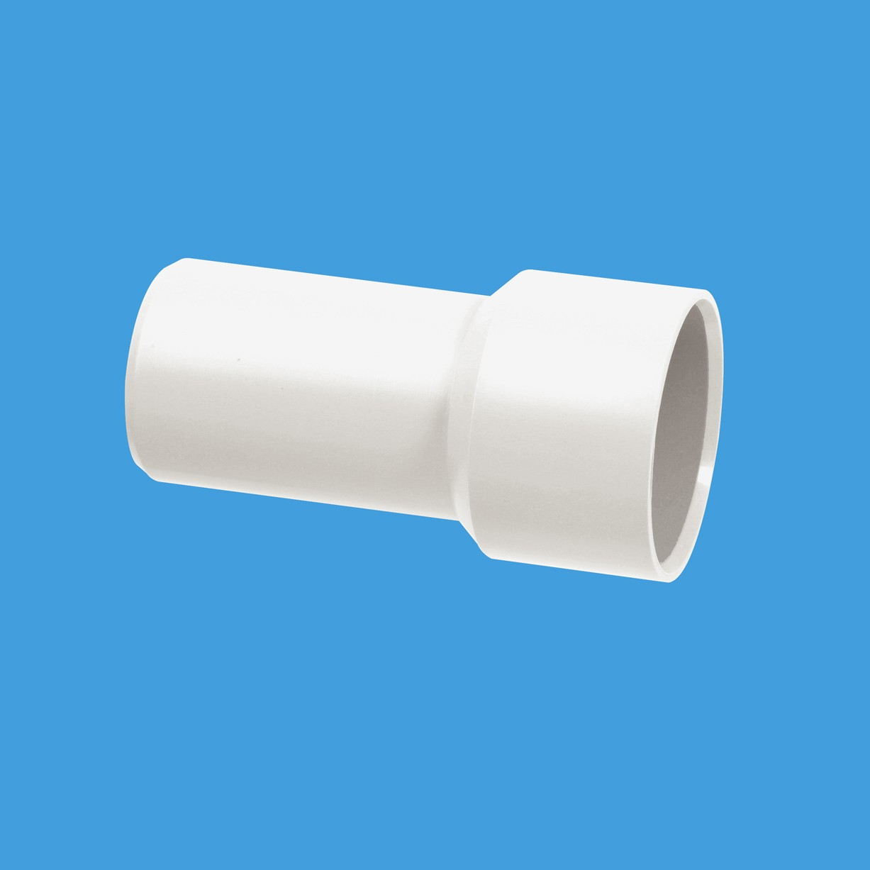 Chrome Waste Fitting Solvent Weld Adapter 35mm To 1 1 4