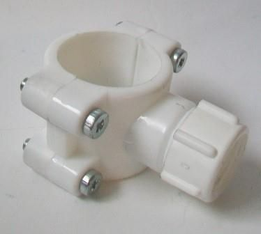 Cistern Overflow Flush Pipe Saddle Clamp Connector