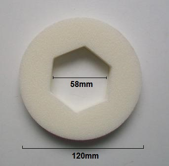 Close Coupled Foam 1.5 Hexagon Doughnut Washer