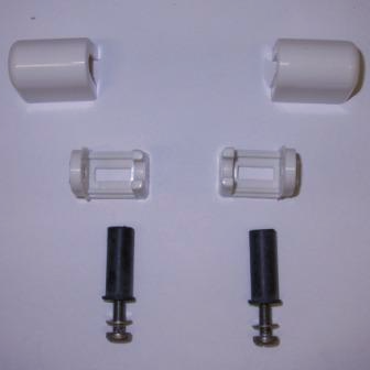 Easy Top Blind Fixing White Toilet Seat Bar Hinges