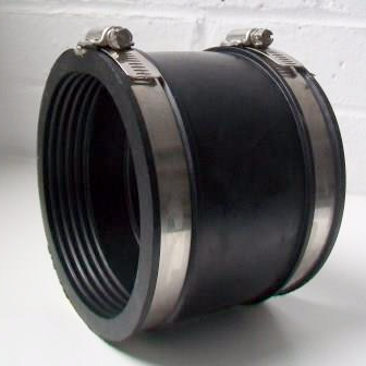 Flexible Rubber 4 110mm Soil Pipe Connector 100mm 115mm