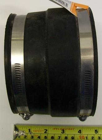 Flexible Rubber Soil Pipe Connector Cast Iron To Plastic
