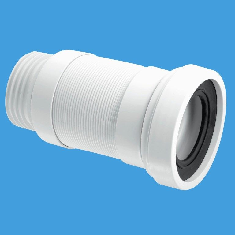 Mcalpine 3 1 2 Outlet Long Flexible Toilet Pan Connector