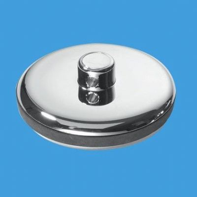 McAlpine Chrome Plastic Bathroom Basin Plug CP1 - 74000180