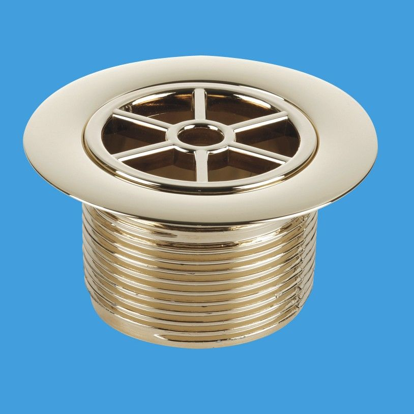 Mcalpine Gold Effect Plastic Shower Waste 70mm Flange