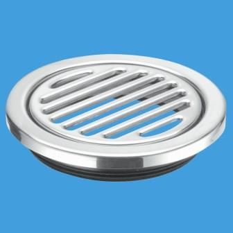 McAlpine Round 125mm Stainless Steel Gully Grid with Insert - 39004047
