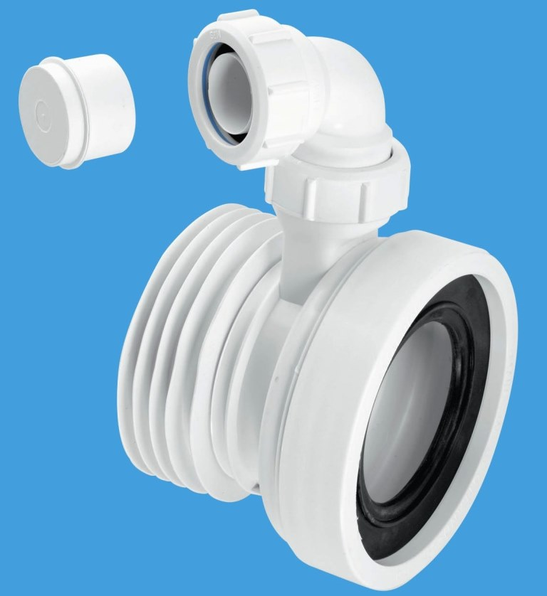 Mcalpine Short Toilet Pan Connector With Basin Intlet