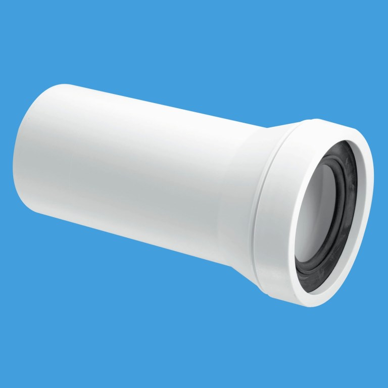Mcalpine Straight 4 Inch 110mm Plain End Pan Connector
