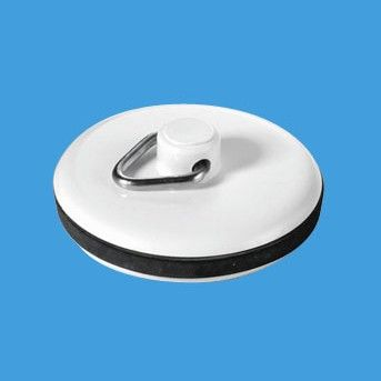 McAlpine White Plastic Bathroom Basin Plug WP1T - 74000303