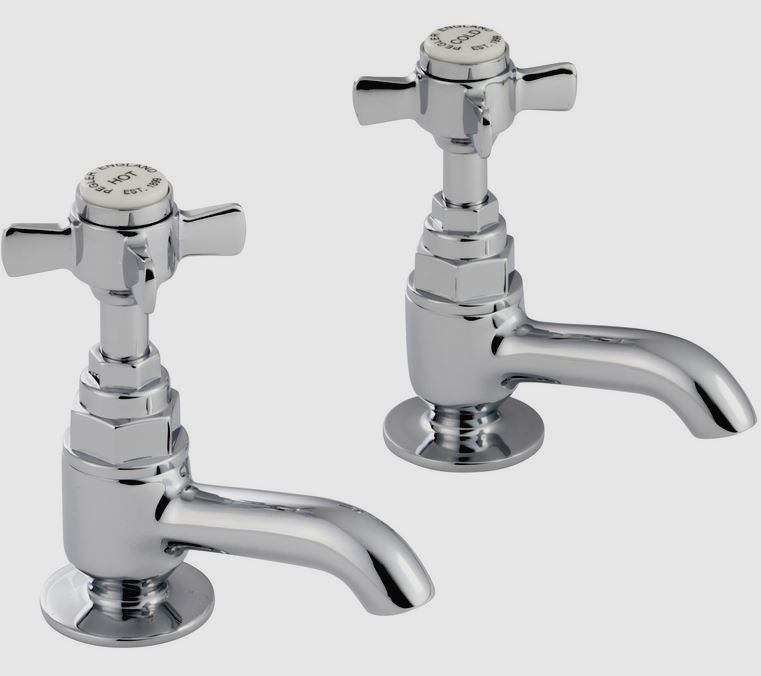 Pegler Sequel Traditional Cross Top Bathroom Basin Taps