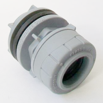 Polyplumb Push Fit 22mm x 3/4 Straight Tank Connector - 29P05022