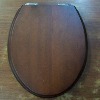 Sanitan Mahogany Wood Effect Soft Close Toilet Seat - 02000016