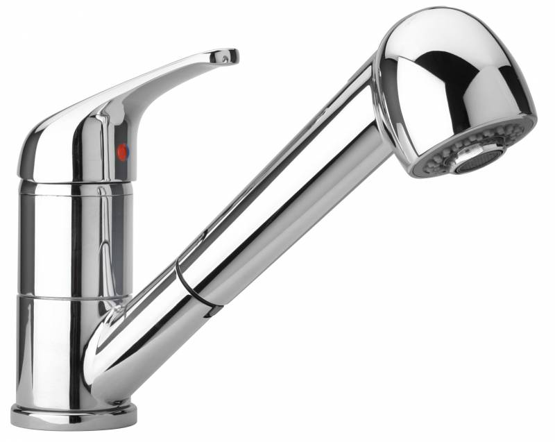 Single Lever Pull Out Spray Kitchen Sink Mixer Tap