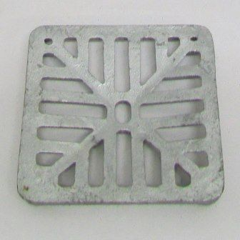 Square Galvanized Dished 5 Inch 127mm Gully Grid
