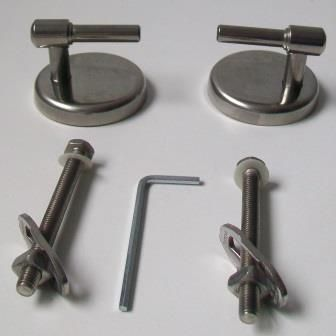 Stainless Steel Top Fix L Shape Toilet Seat Hinges - 03065753