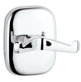 Suite Chrome Brass Double Robe Hook - 01000018