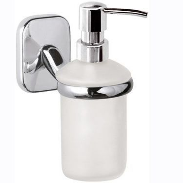 Suite Wall Mounted Chrome White Soap Dispenser 01000013 Plumbers