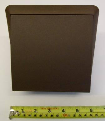 Ventilation 100mm Hooded Terminal Vent - Brown