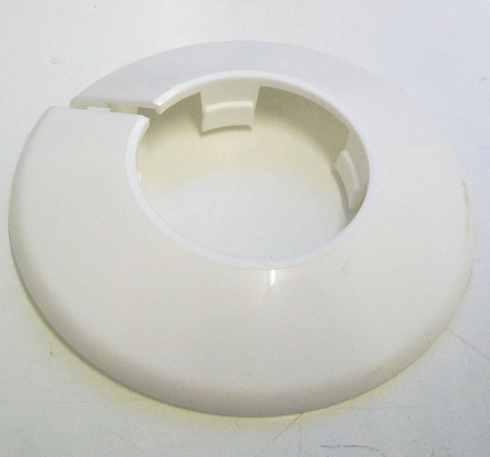 White Plastic 35mm Pipe Wall Flange Collar Pack Of 2