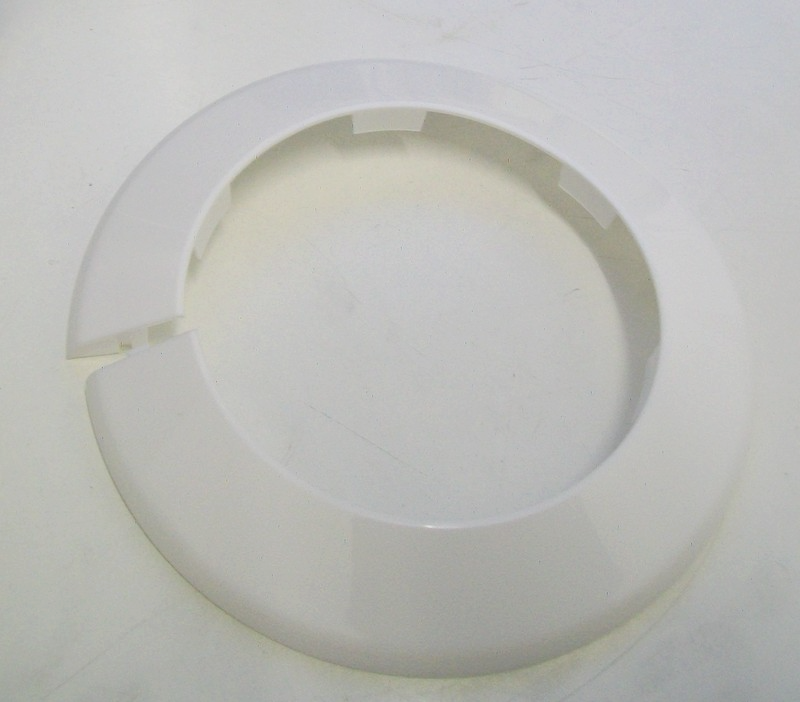 White Plastic 4 Inch 110mm Pipe Collar 30000396