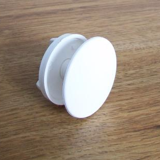 White Plastic Basin Sink Bath Tap Hole Blank Stopper