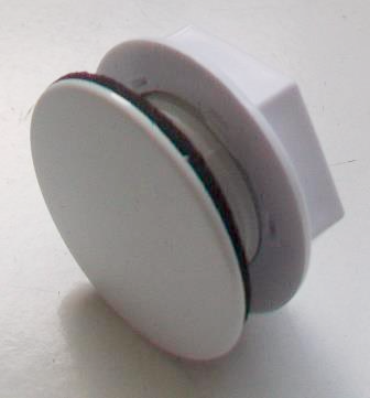 White Plastic Cover Kitchen Sink Tap Hole Blank Stopper